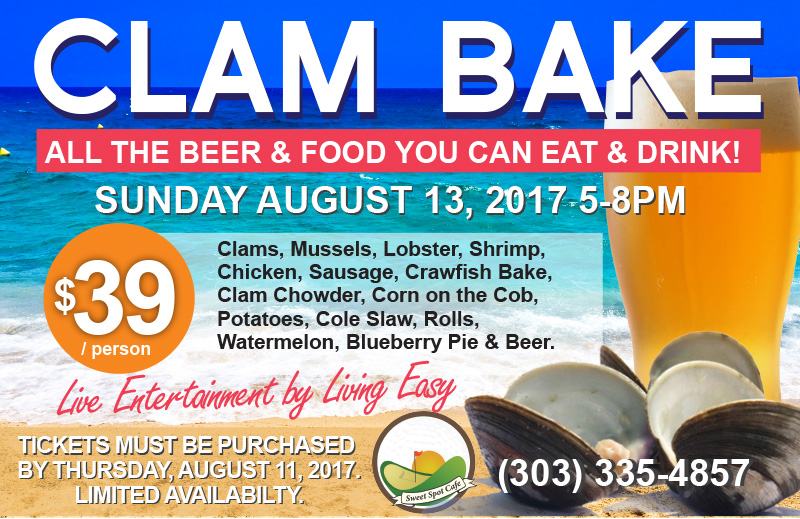 Sweet Spot Cafe Clam Bake