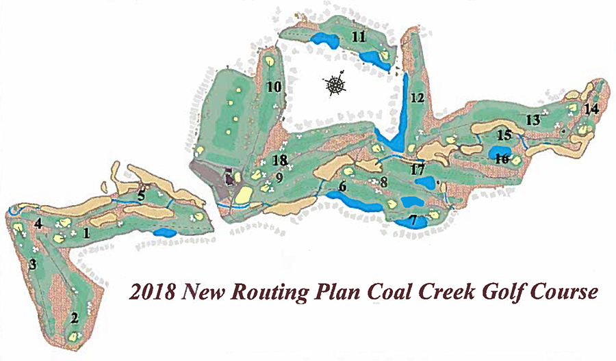Coal Creek Golf Course New Route