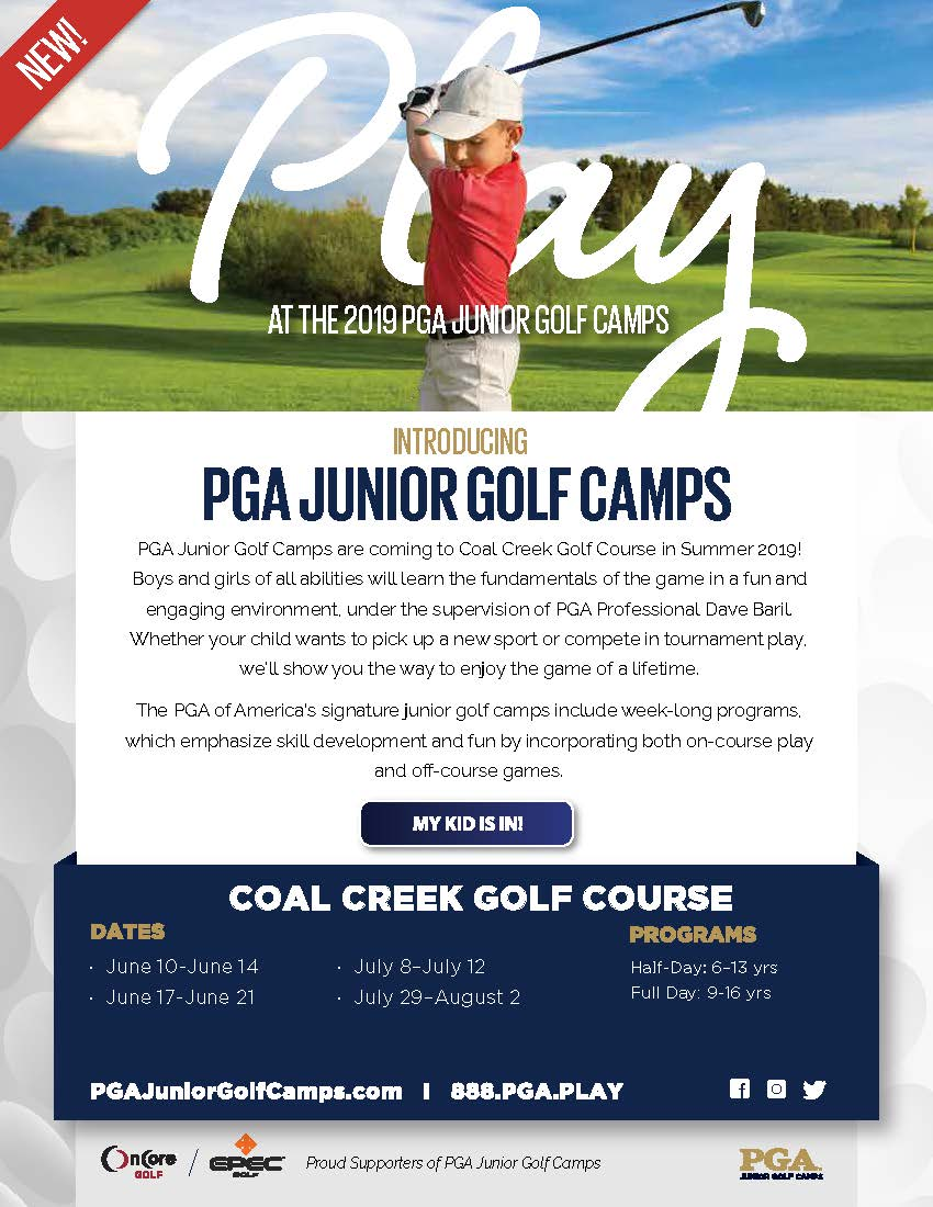 2019 Coal Creek Golf Course Announcement Email